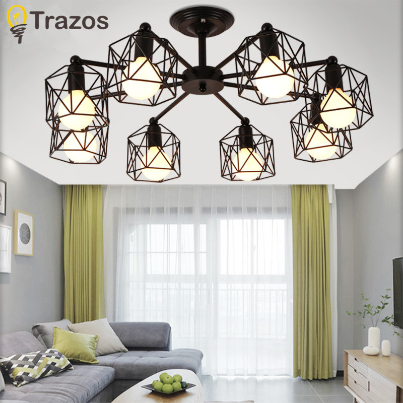 Retro Black 3 heads 6 heads 8 heads Multiple rod ceiling dome lamp creative personality retro nostalgia cafe bar ceiling light vintage american variety e27 iron ceiling dome lamp creative personality retro nostalgia cafe bar industrial ceiling light