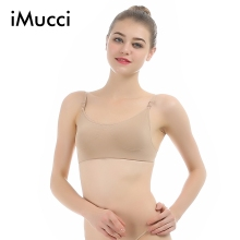 f4d6ab328f68e iMucci Professional Backless Beige Ballet Dance Adjustable Shoulder Strap  Women