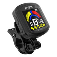 AROMA rechargeable clip on tuner professional 12 averaging guitar bass violin ukulele LCD Tuner guitar string accessories
