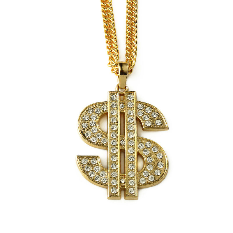 Goldkette dollar  Online Get Cheap Gold Dollar Sign Halskette -Aliexpress.com ...