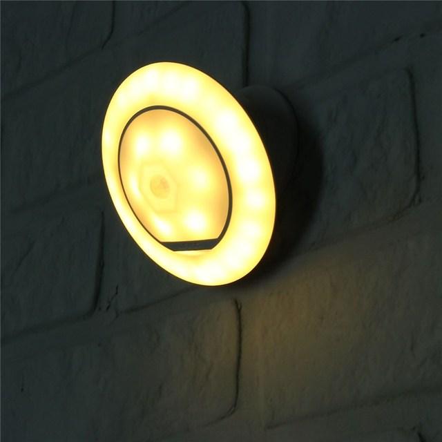 Pir Motion Sensor Nuit Lampe A Piles Sans Fil 30 Led Night Light