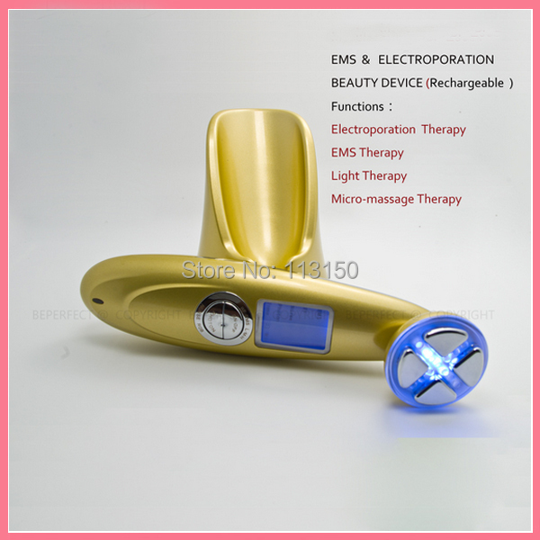 Free shipping LCD Display RF Radio Frequency EMS Microcurrent LED Light Photon Therapy Face Lifting Skin Rejuvenation Machine electric iontophoresis red led light photon therapy ems microcurrent face lifting skin tightening facial tonner beauty device