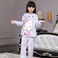 New Girls Pajamas Warm Thicken Autumn Winter Flannel Pijamas Mujer Children coral fleece cartoon Pajamas for Kids pijamas
