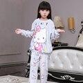 Nuevos Pijamas de Las Muchachas Caliente Espesa Otoño Invierno Franela Pijamas Mujer polar de coral Niños de dibujos animados Pijamas para Niños pijamas