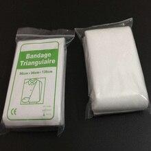 10 шт./лот нетканые треугольные повязки противоаварийных тренировок wrap bandage medical bandage first aid kit слинг марлевую повязку