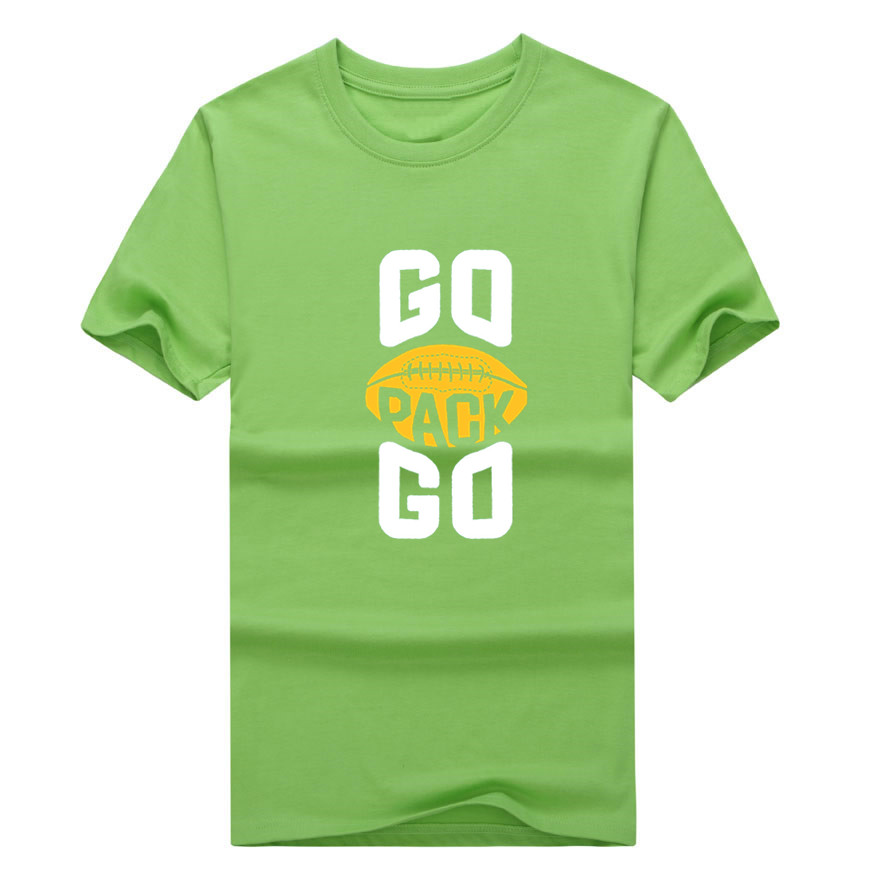 2017 New 100% Cotton green bay GO PACK GO T shirt funny packers T Shirt  0116 7-in T-Shirts from Men s Clothing   Accessories on Aliexpress.com  81943d8f8