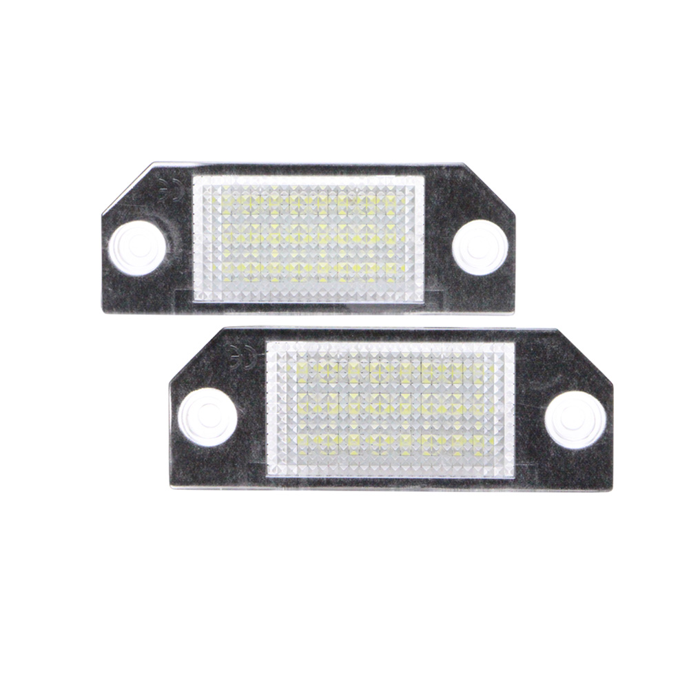 2Pcs Canbus White 24 LED Car Number License Plate Light Lamp for Ford Focus C-MAX MK2 car LED license light for Ford Focus 2 1pair license number plate light 18led lamps replace for ford mondeo focus 5d canbus d2tb