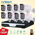 New Super Full HD 8CH AHD 3MP Home Outdoor CCTV System Kit 8 Channel Array Surveillance Camera 1920P Security System Kit