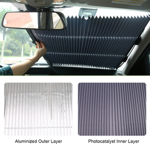Image 4 - Universal Car Sun Visor Retractable Front Windscreen Car Sunshade Auto Sun Shades for Windshield UV Protection Covers Accessory