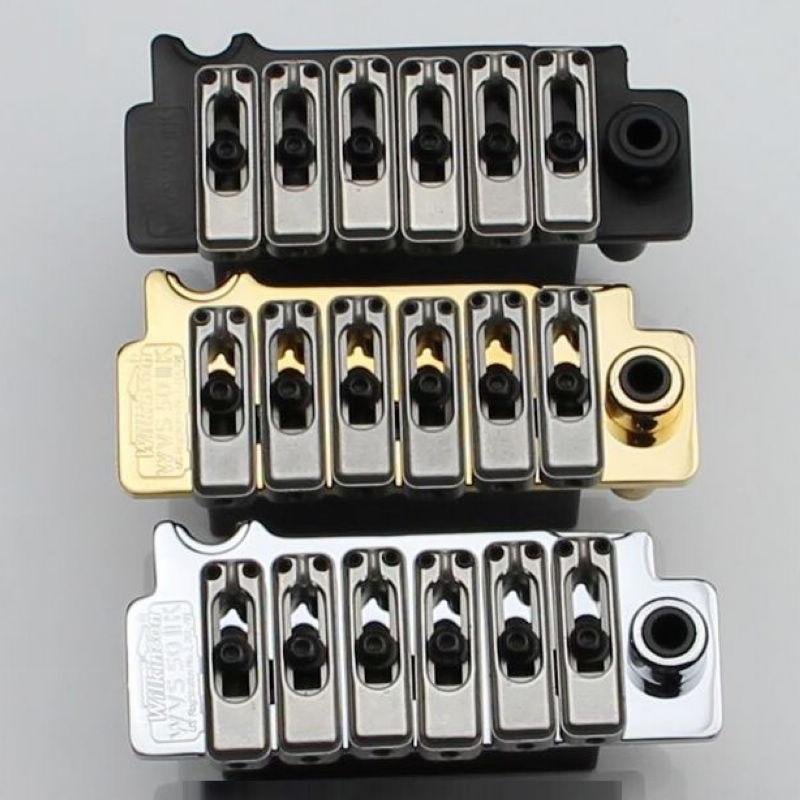 New Wilkinson WVS50IIK Guitar Tremolo Bridge Kit Chrome Black and Gold Brand
