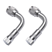 1 пара 90 градусный клапан для пневматических шин Schrader Клапан и удлинитель адаптер для автомобиля грузовика мотоцикла RV ATV Quad 1,6 медь + хром