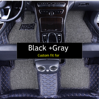 Double layer fabric car floor mats for BMW F10 F11 F15 F16 F20 F25 F30 F34 E60 E70 E90 1 3 4 5 7 GT X1 X3 X4 X5 X6 Z4 car