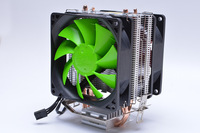 CPU Cooler CPU Fan CPU Radiator Pure Aluminum Double Heat Pipe Double Fan For Intel 1150