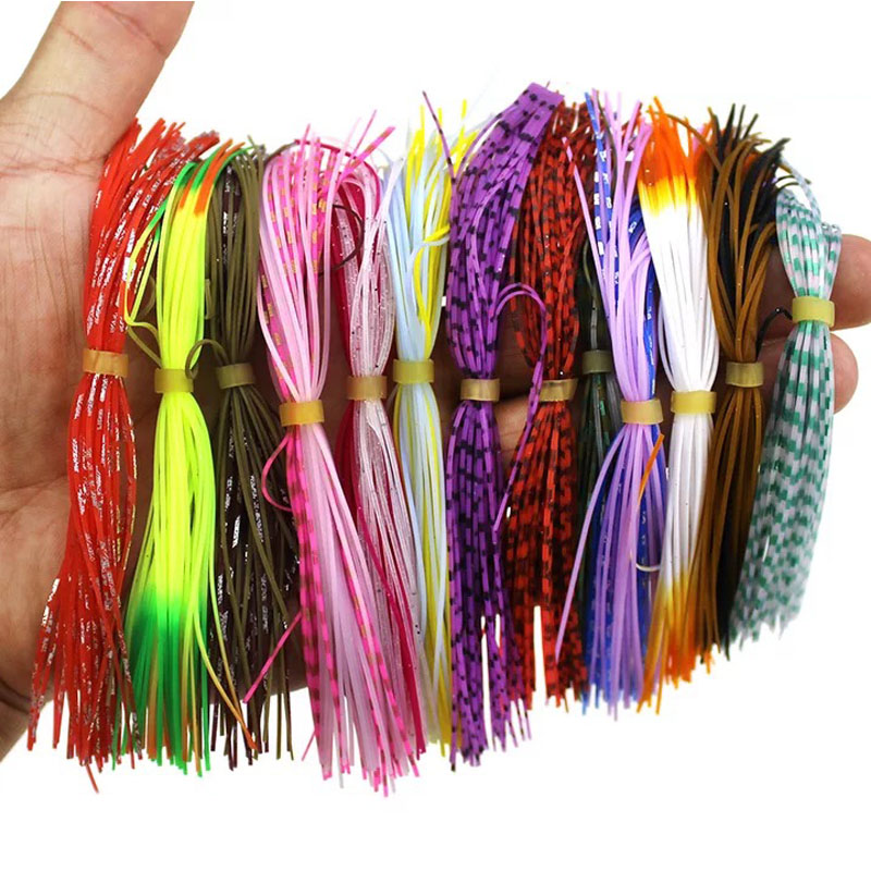 1 Bundles 13cm Length Fly Tying Rubber Threads Skirts Silicone Straps For Fly Lure Beard Wire So Random Mixing Color