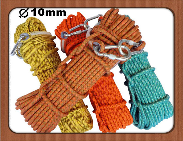 ФОТО High quality 10mm rock climbing rope paracord 550 bear 500kg  paracord  high-altitude survival parachute  204 0C  fireproofing