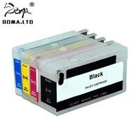 Hp designjet t120 t520 용 arc 칩이있는 hp711 용 강력한 리필 잉크 카트리지 hp 711 프린터 용