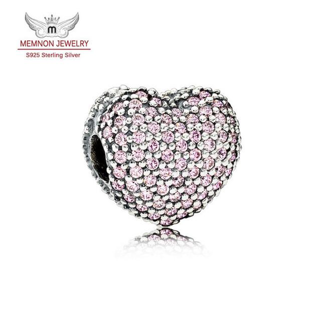 2017 Día de San Valentín Allanan Encantos cupieron Las Pulseras DIY 925 Abrir Mi Corazón de Los Granos de DIY Fabricación de La Joyería Fina