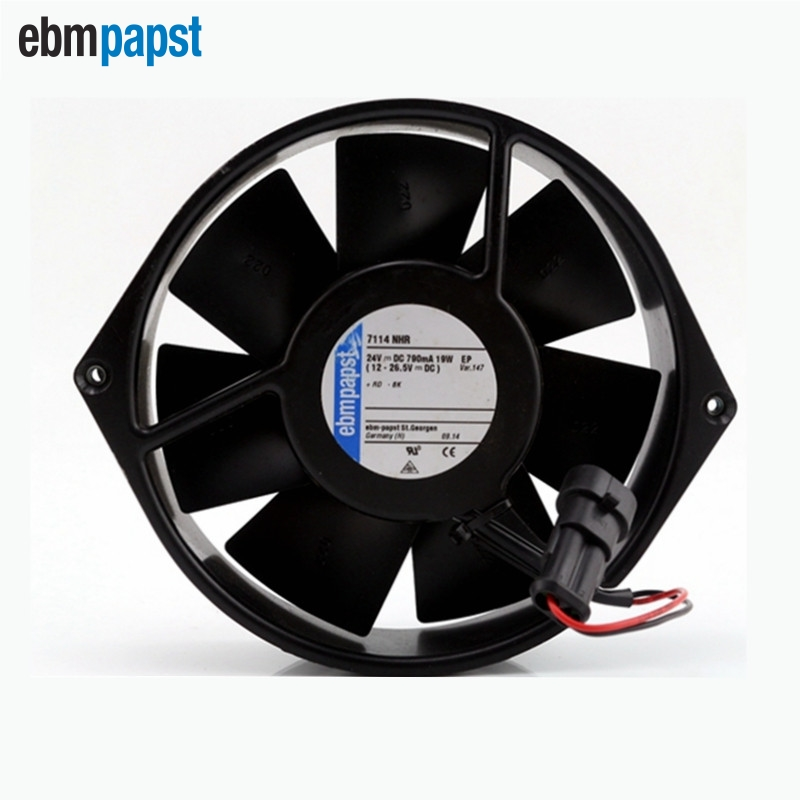 ebm papst   New 15038 Full Metal 24V 12W 15 inverter fan TYP7114N / 2 150*150*38mm new original ebm papst iq3608 01040a02 iq3608 01040 a02 ac 220v 240v 0 07a 7w 4w 172x172mm motor fan
