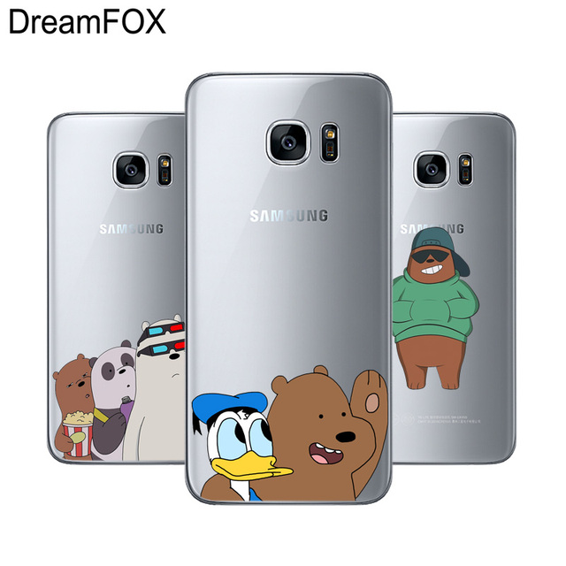 pretty nice 13a3a 53215 US $0.96 39% OFF|DREAMFOX L499 We Bare Bears Soft TPU Silicone Case Cover  For Samsung Galaxy Note S 3 4 5 6 7 8 9 Edge Plus Grand Prime-in Fitted ...