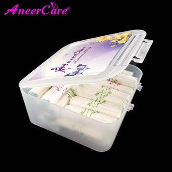 Compresas sanitarias vaginales para mujeres, 30 Uds./caja de tampones, productos de salud para mujeres durante la menstruación, caja de tampones portátil