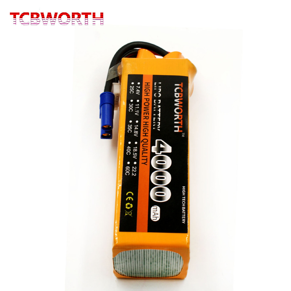 TCBWORTH 6S 22.2V 4000mAh 40C-80C RC LiPo battery For RC Airplane Helicopter Quadrotor Car boat Truck Li-ion battery купить в Москве 2019