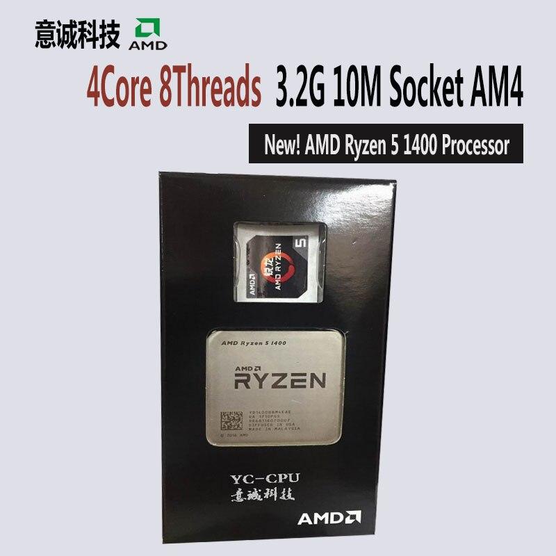 AMD Ryzen 5 1400 R5 Bộ Vi Xử Lý CPU 4 Core 8 Chủ Đề Ổ Cắm AM4 3 2
