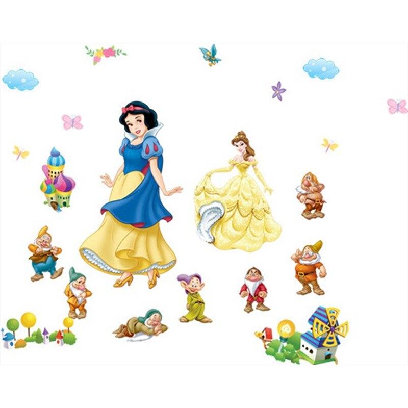 3d-effekt prinzessin königin fenster wandaufkleber für kinderzimmer decor cartoon wandtattoos pvc schnee mädchen tapete diy poster geschenk