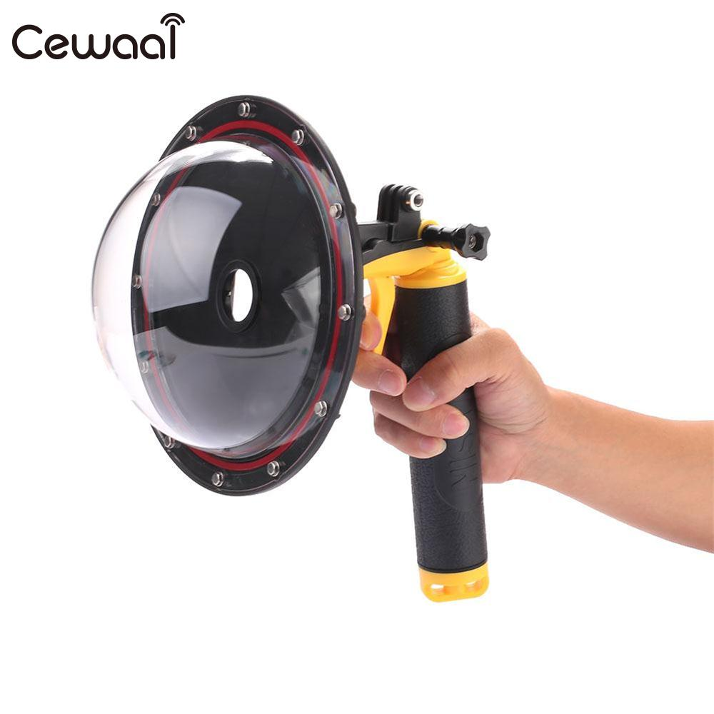 Cewaal Professional 6 inch Underwater Diving Cam Fish Eyes Lens Dome Port Cover Hood for Gopro Hero 3/4 Sport Camera Products meikon underwater diving camera waterproof cover case for canon 650d 18 55mm lens black