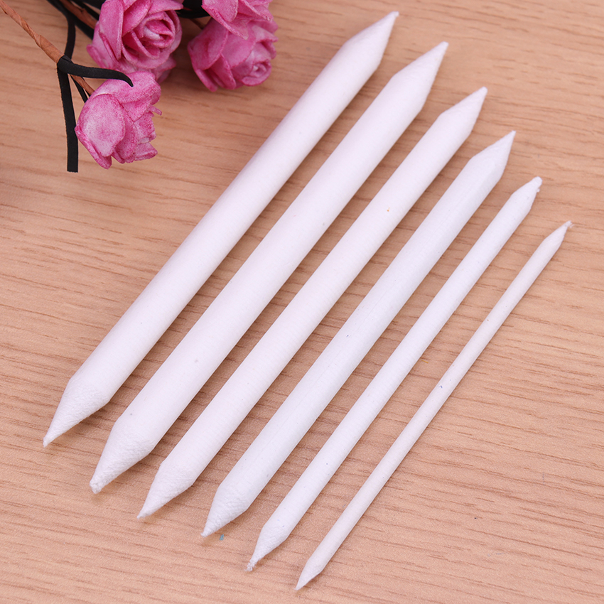 6PCS Blending Smudge Stump Stick Tortillon Sketch Art White Drawing Pen Tool Rice Paper Art Supplies