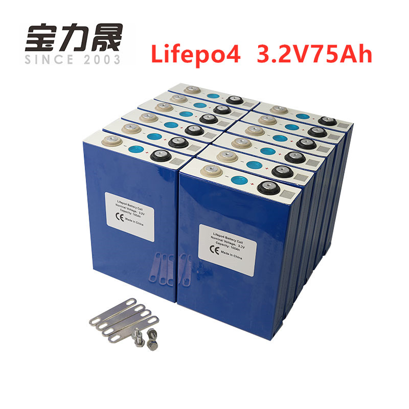 2019 NEW 16PCS 3 2V 75Ah lifepo4 battery Prismatic CELL 12V80Ah for EV RV battery pack diy solar UK EU US TAX FREE UPS or FedEx in Replacement Batteries from Consumer Electronics
