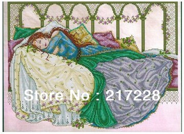 14CT Cross Stitch Kits Sleeping Beauty Joan Elliott Fairies 44x34cm CS 062WM