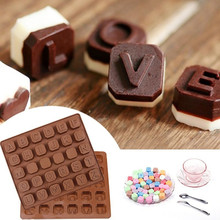Dropshipping 26 Letter Silicone Mold Chocolate Spaces Ice Cu