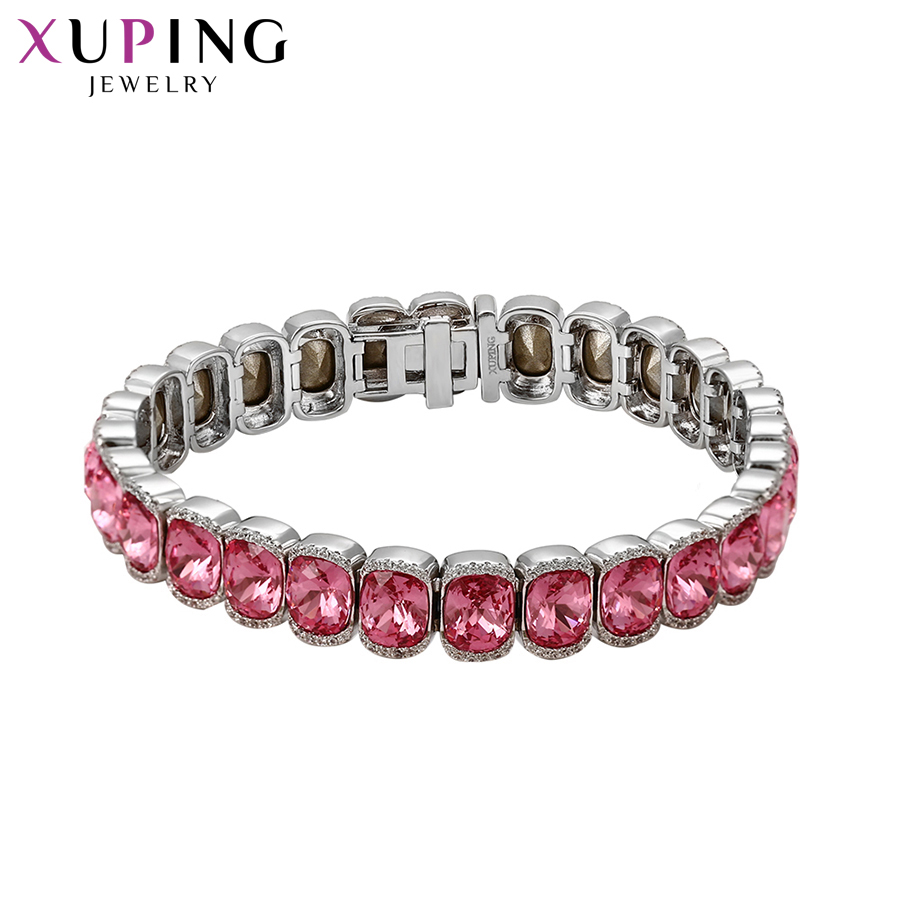 Xuping Hyperbole Style Bracelets Colorful Crystals from Swarovski Luxury Jewelry for Women Thanksgiving Gifts S144.2-74721