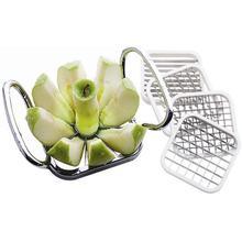 5pcs\set Stainless Steel Apple Cutter Slicer Vegetable Fruit Pear Potato Chips Manual Strip Chopper Kitchen Tools