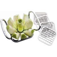 5pcs\set Stainless Steel Apple Cutter Slicer Vegetable Fruit Apple Pear Potato Chips Manual Strip Chopper Kitchen Tools