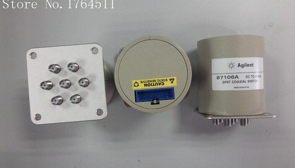 [BELLA] Imported Agilent 87106A DC-4GHZ 28V SMA Single Pole Six Throw RF -