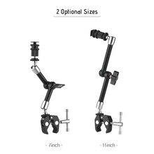 Andoer In Acciaio Inox Articolazione Friction Arm w/Regolabile Clip per DSLR Cam Rig/Monitor/Led/Flash/Microfono
