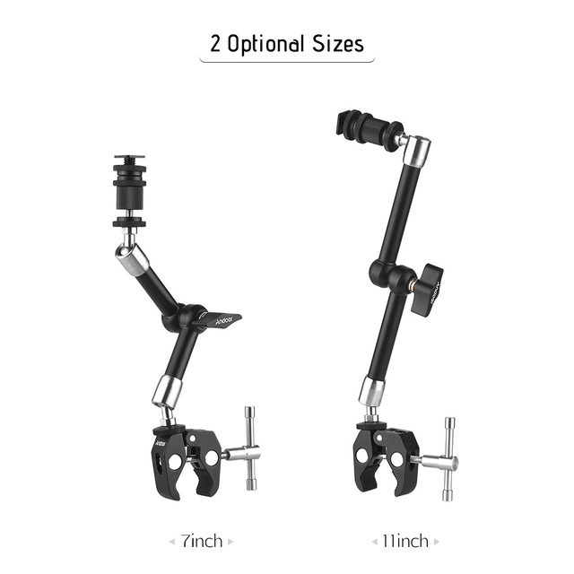 Andoer Stainless Steel Articulating Friction Arm w/ Adjustable Pliers Clip for DSLR Cam Rig/Monitor/LED Light/Flash/Microphone