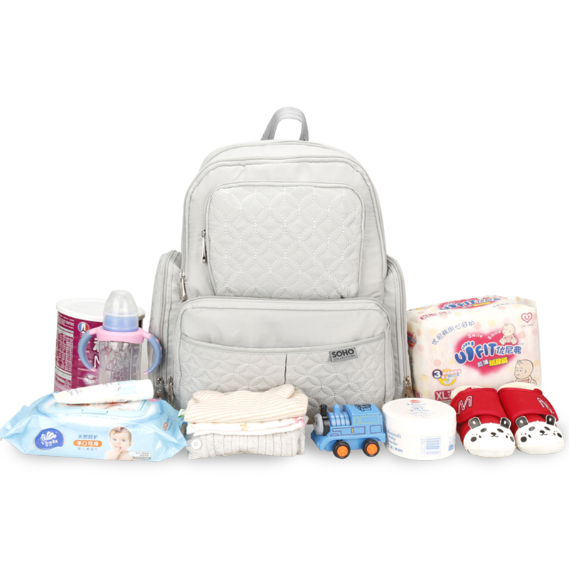 5 Pcs Baby Diaper Bag Large Capacity Baby Care Nappy Bags Multifunction Stroller Hang Tote Mummy Nylon Backpack Mochila BB6029 (14)