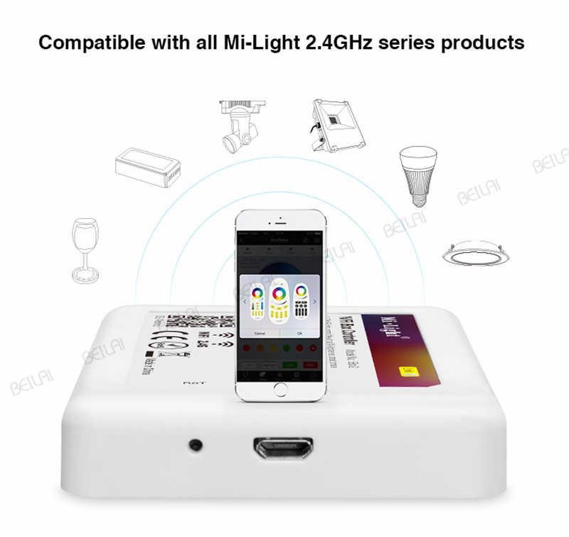 Mi lumière WiFi iBox LED de contrôle veilleuse intelligente 2.4G sans fil WiFi rgb contrôleur pour Mi lumière RGBW WW LED ampoule bande lumières