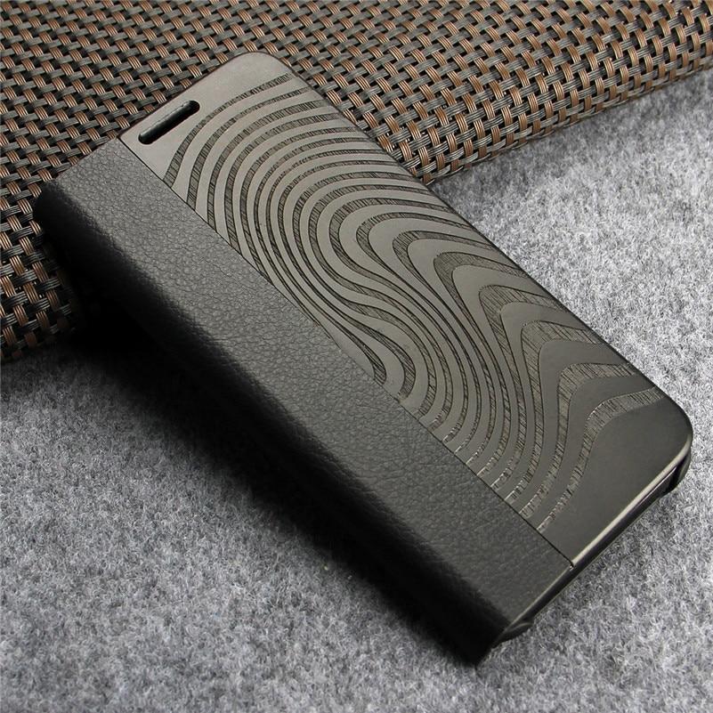 imágenes para Caso del tirón para Samsung Galaxy s8 Caso Caso de Cuero de Lujo Monedero Cubierta Del Teléfono de Protección para el Coque De Madera Samsung s8