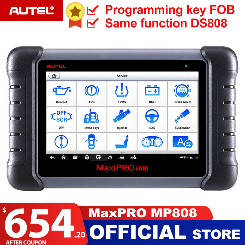 Autel MaxiPRO MP808 Automotive Scanner Car Diagnostic Tool Auto Full System Test OBD Autoscanner PK MaxiDAS