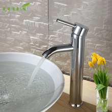 Bathroom Vessel Vanity Faucets Basin Sinks Faucet Cold And Hot Water Mixer Tap Deck Mounted Stainless Steel Free shipping kitchen faucet sus 304 stainless steel deck mounted faucets black paint spool mixer water faucet hot and cold double control tap