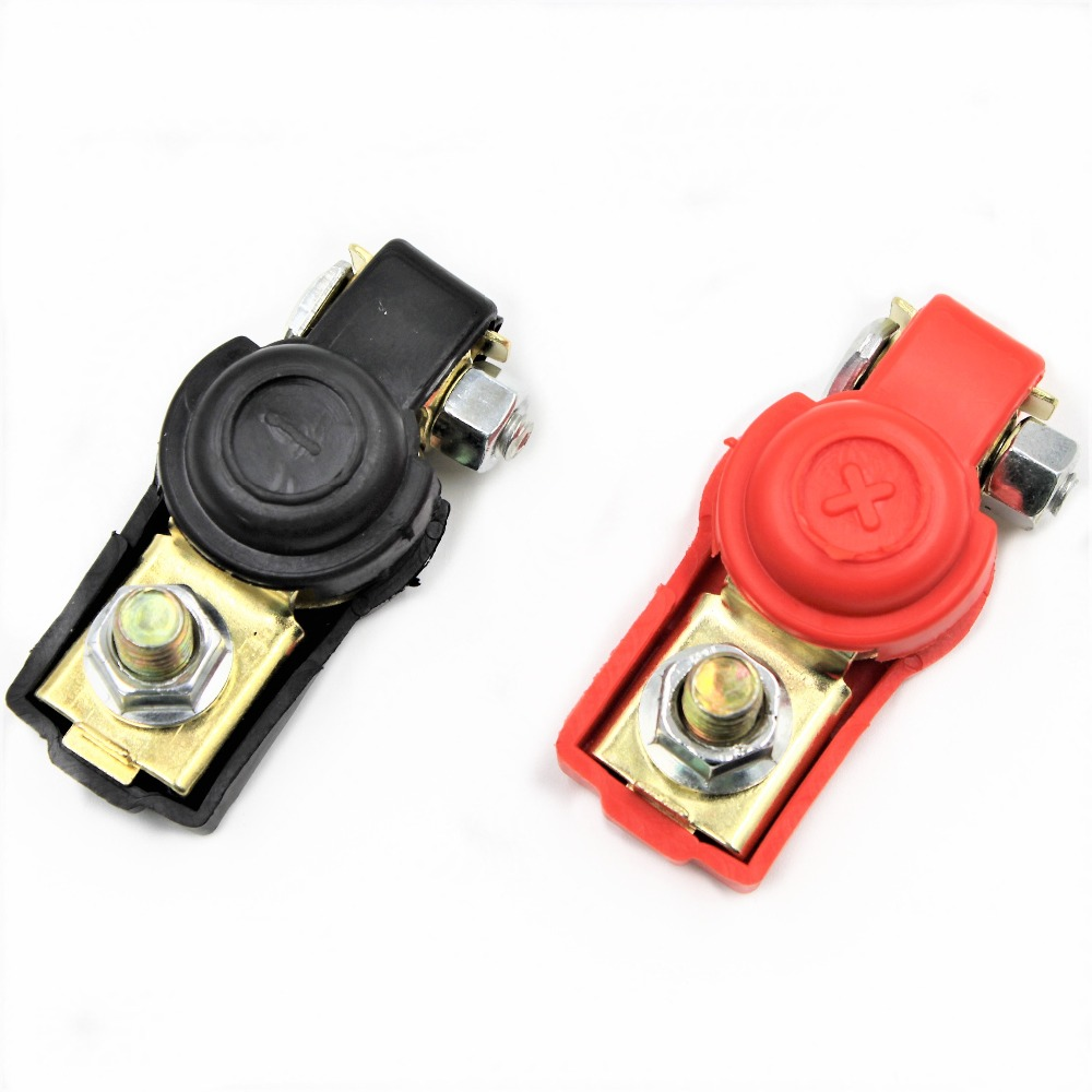 Homyl 2 Pieces Car Truck Marine Boat Battery Terminal Clamp Clips Brass Connectors
