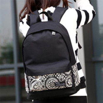 Fashion Women Canvas Printing Backpack Lightweight School Backpacks for Girls Teenagers Female Large Travel Bags 1
