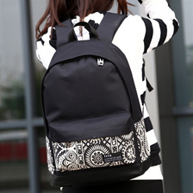 e5e96c3ece Fashion Women Canvas Printing Backpack Lightweight School Backpacks for Girls  Teenagers Female Large Travel Bags 1