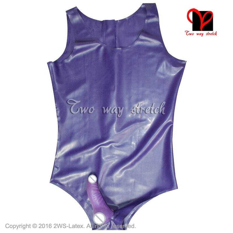 Lights & Lighting Trend Mark Sexy Latex Swimsuit With Penis Sheath Condom Round Collar Back Zip Latex Catsuit Rubber Bodysuit Leotard Tc-031