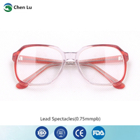 New Arrivals gamma rays and x ray protective glasses medical exposure radiological protection 0.75mmpb lead spectacles