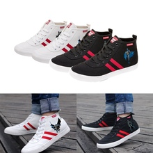 Printing The Dark Knight Batman Cool Cartoon high top breathable canvas uppers sneakers student personalise fashionCasual shoes