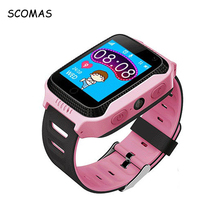 SCOMAS Smart Baby Watch with LBS+GPS Position Tracking Smart Children's Wristwatch Anti-lost Anti-lost Child Guard Watch Phone